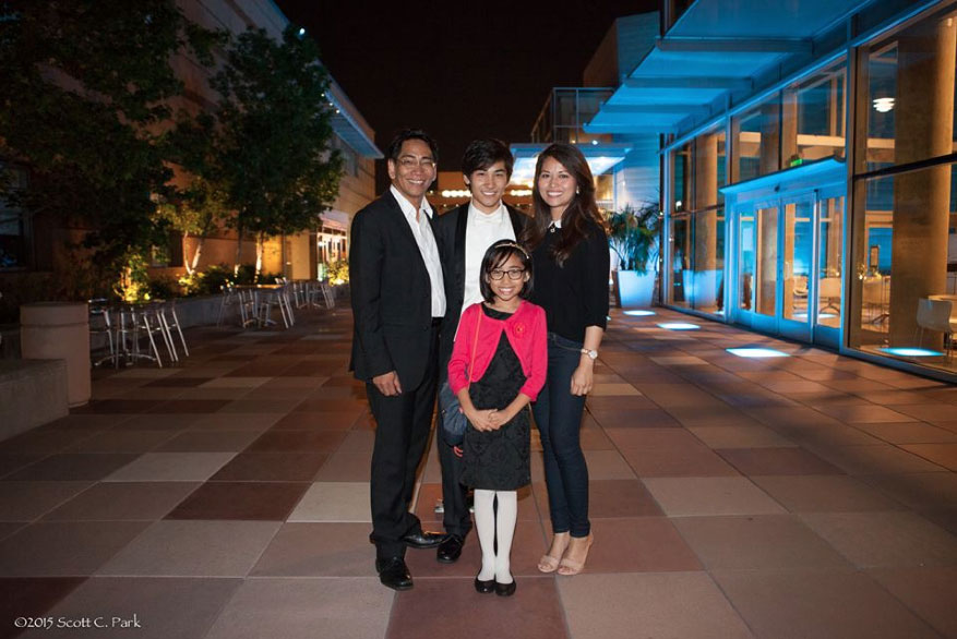 Matthew John Ignacio- with his parents Paige and Frances Ignacio, and sister Hannah. (Photo by Scott C. Park)