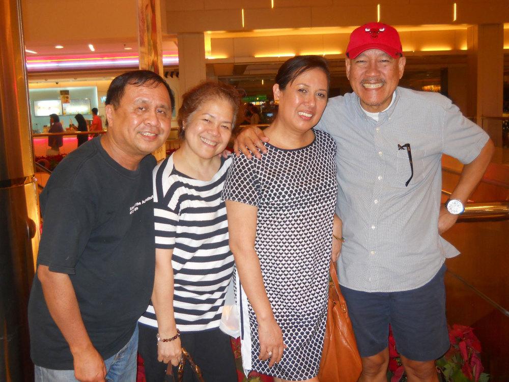 The author with Clarissa Bañuelos Subagyo, Marie Alcazar de la Torre, and Dave de la Torre. (Photo courtesy of Rey E. de la Cruz/Photo editing by Ivan Kevin Castro))