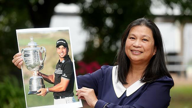 Dening Day, proud of her son winning one of golf's major tournaments (Source: NewsCorp Australia)