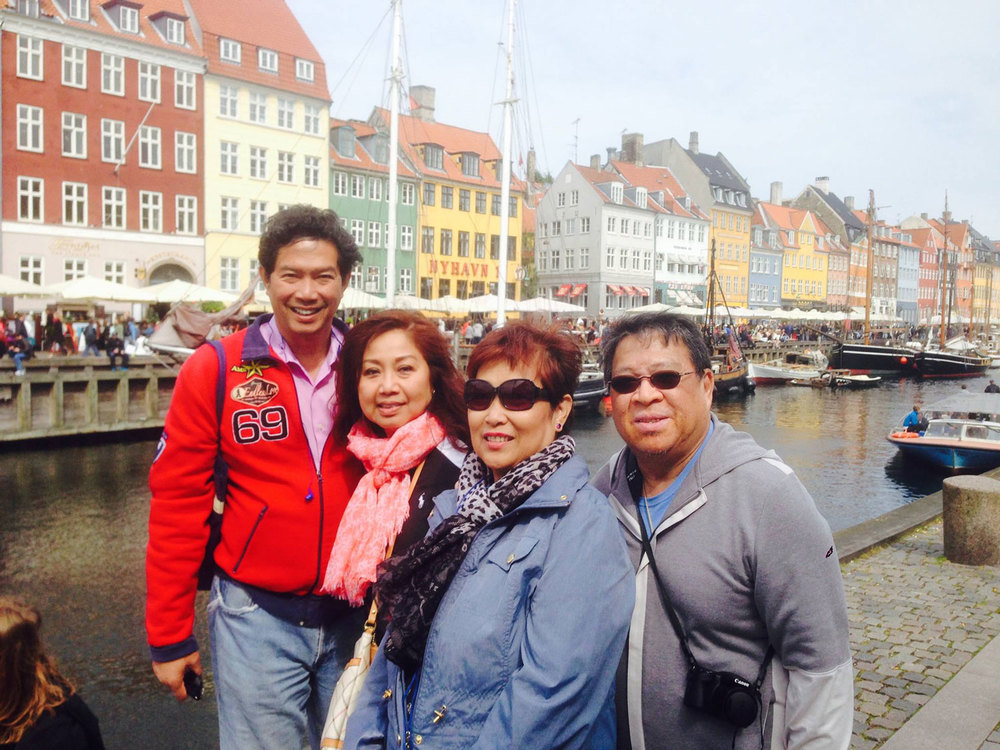From left to right: Joe Santos, Lynn Gabriel-Santos, Mina Quitasol and Jun Quitasol (Photo courtesy of Joe Santos)
