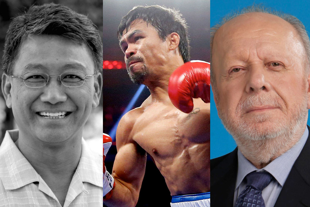 Diosdado Banatao (Source: PhilDev), Manny Pacquiao (Source: Sporting News), Philippe Jones Lhullier (Source: Cebuana Lhullier)