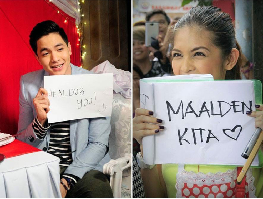 "Alden Richards and Maine ""Yaya Dub"" Mendoza is the Philippines' breakout couple of the year (Photo courtesy of Eat Bulaga)."