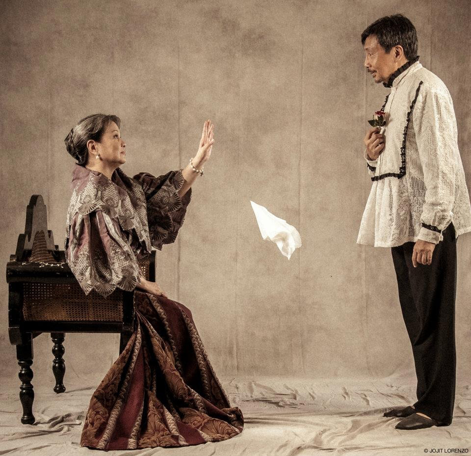 As Tadeo. Publicity shot for the revival of  Walang Sugat.  Tanghalang Pilipino, 2012. Directed by Carlitos Siguion-Reyna. With Noemi Manikan-Gomez. (Photo courtesy of Bodjie Pascua)