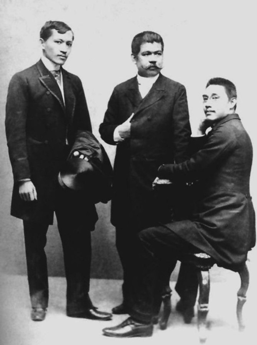 Some of the members of  La Solidaridad,  Jose RIzal, Marcelo H. Del Pilar and Mariano Ponce.