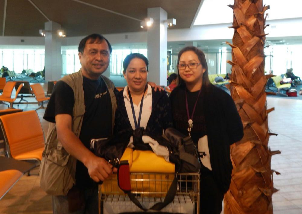 Rey E. de la Cruz, Marnie Montinola, and Rhia May Tubilla. (Photo courtesy of Rey E. de la Cruz. Photo editing by Ivan Kevin Castro)