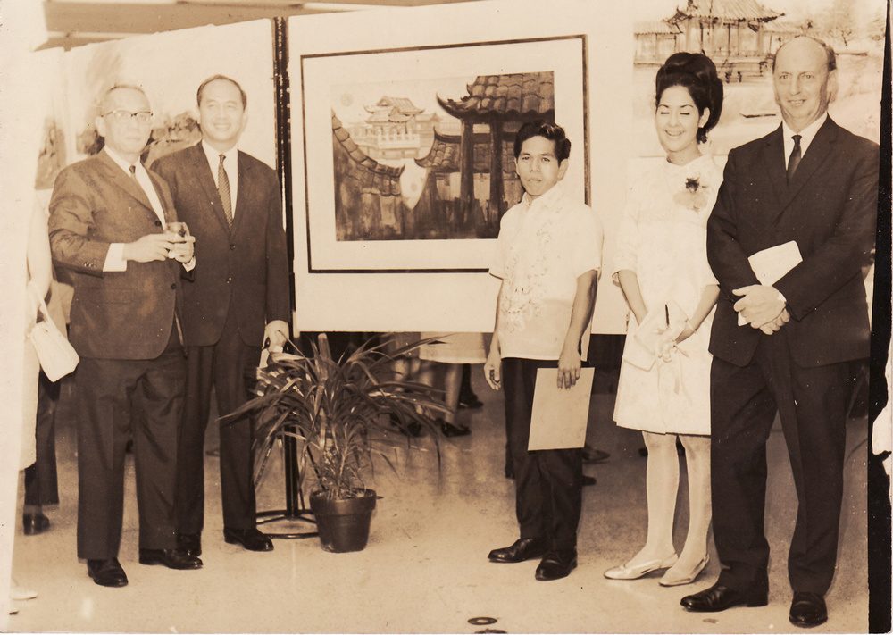 Winning On-the-spot painting at the Shell National Students Art Competition, 1967 (Photo is courtesy of Ely Mendoza)