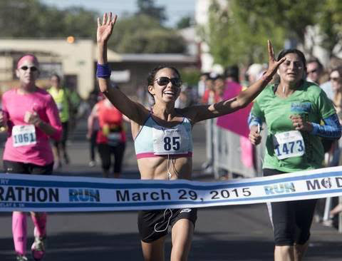Anna Bretan, nurse, runner and young mother from Berkeley, CA. She has won three times in a row in The San Francisco Marathon, women's division. (Photo courtesy of Anna Bretan)