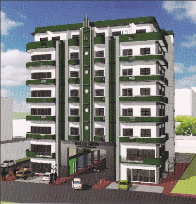 "Architect's rendering of Belle Arte Residential Condominiums, located on the same property as ""Daku Balay"""