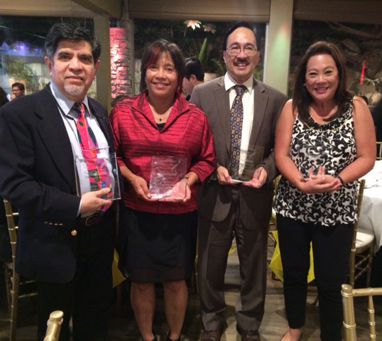 Plaridel Winners: Myles Garcia, Lisa Suguitan Melnick, Dr. Jorge Emmanuel, and Mona Lisa Yuchengco (accepting the award for Lotis Key)
