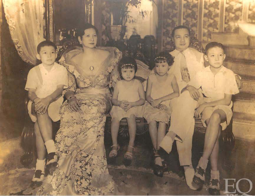 The last complete family photo of President Elpidio Quirino with wife Alicia Syquia and children. Doña Alicia and their 3 children Armando, Norma and Fe were killed by the Japanese during WWII. (Photo courtesy of the President Elpidio Quirino Foundation)