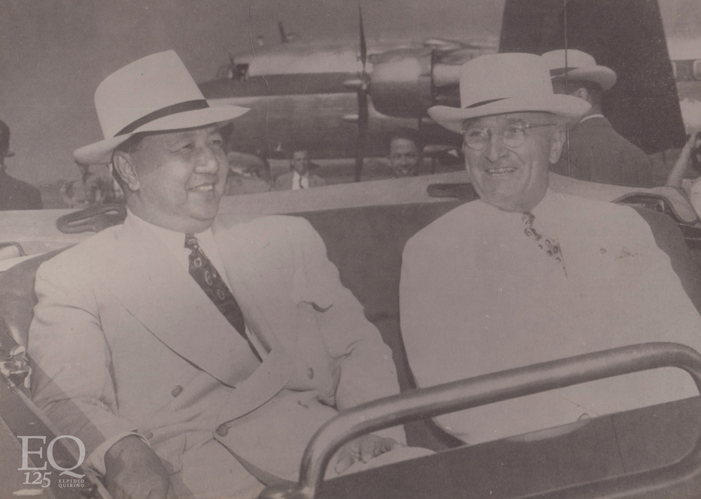 Philippine President Elpidio Quirino with US President Harry Truman (Photo courtesy of the President Elpidio Quirino Foundation)