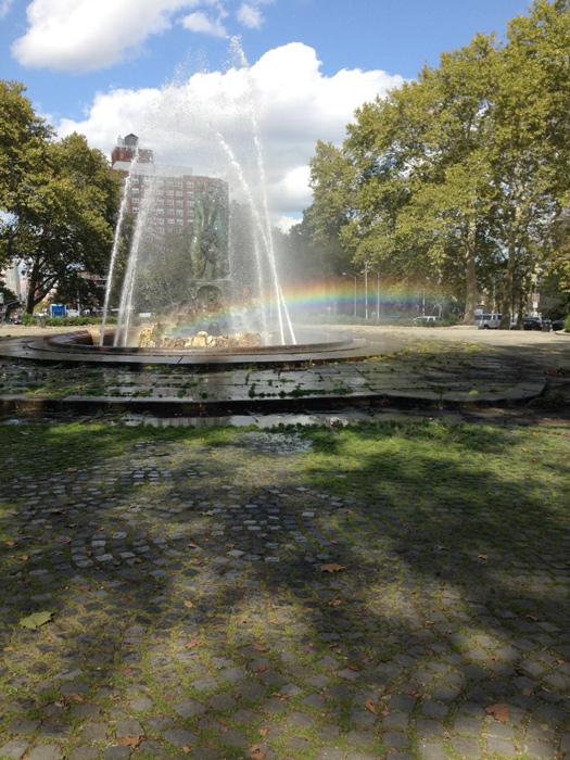 A rainbow appears as the wedding takes place. (Photo by Gemma Nemenzo)