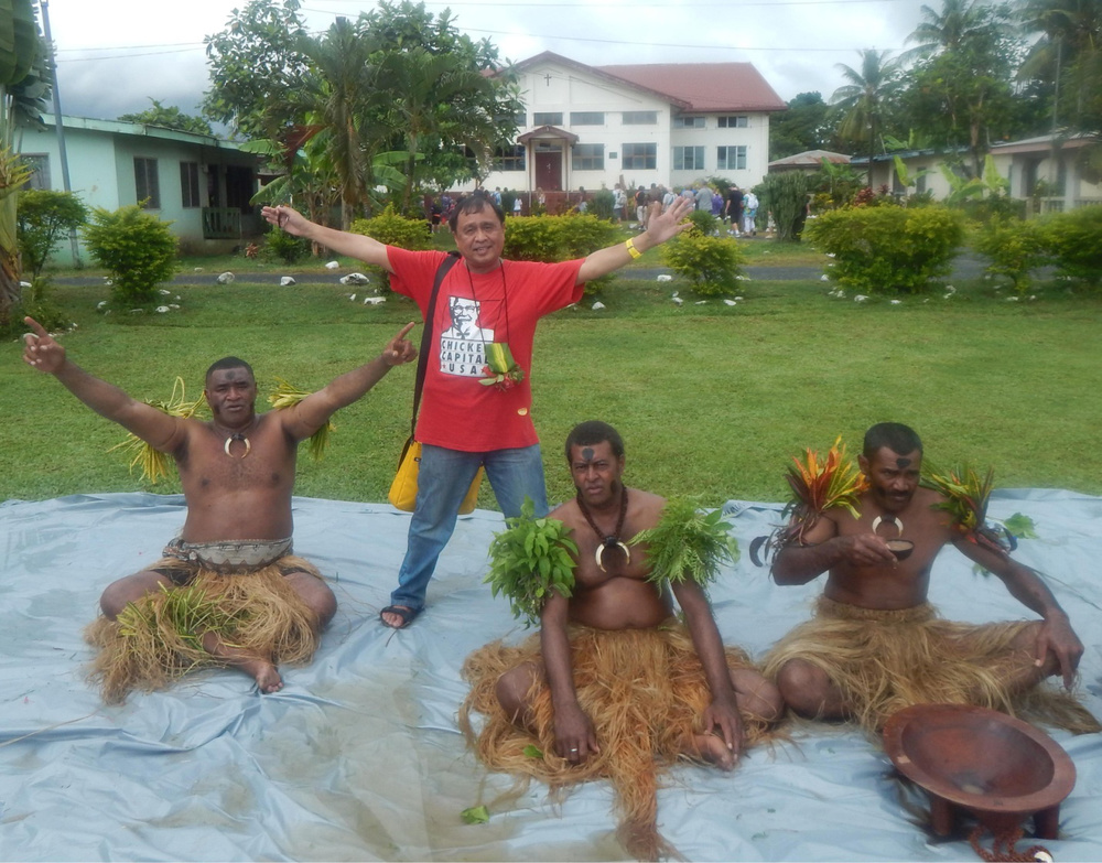 I watched a kava (narcotic sedative drink) ceremony at the Nawaka Village in Port Denarau, Fiji (Photo courtesy of Rey E. de la Cruz)