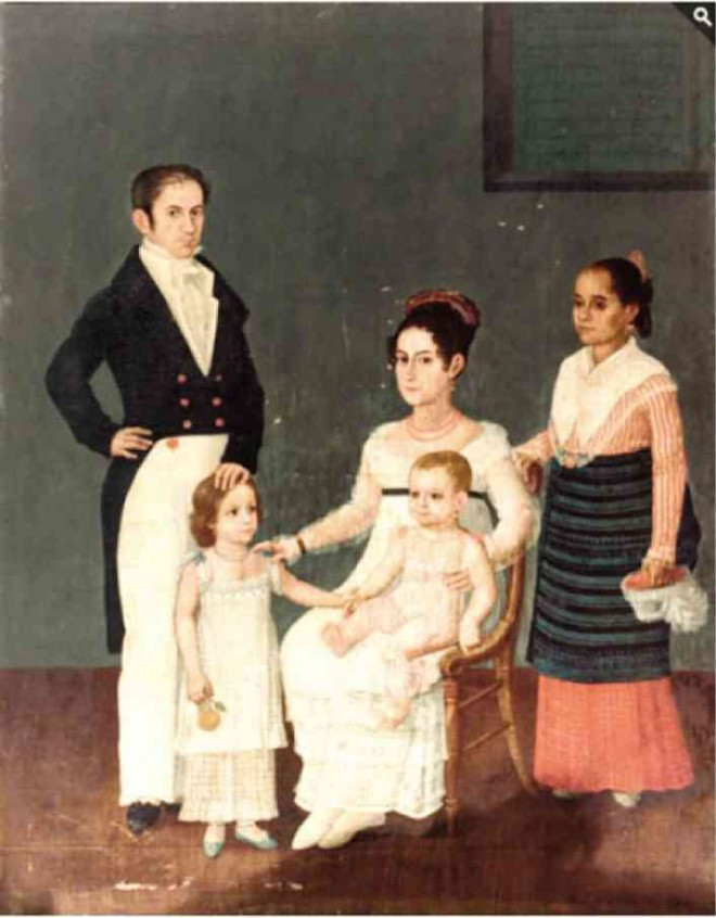 "Juan Arzeo's ""Retrato de la familia Azcárraga"" (Source: Inquirer.net)"