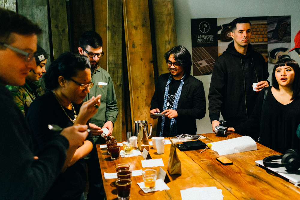Coffee tasting in Seattle during the World Coffee Events, April 2015