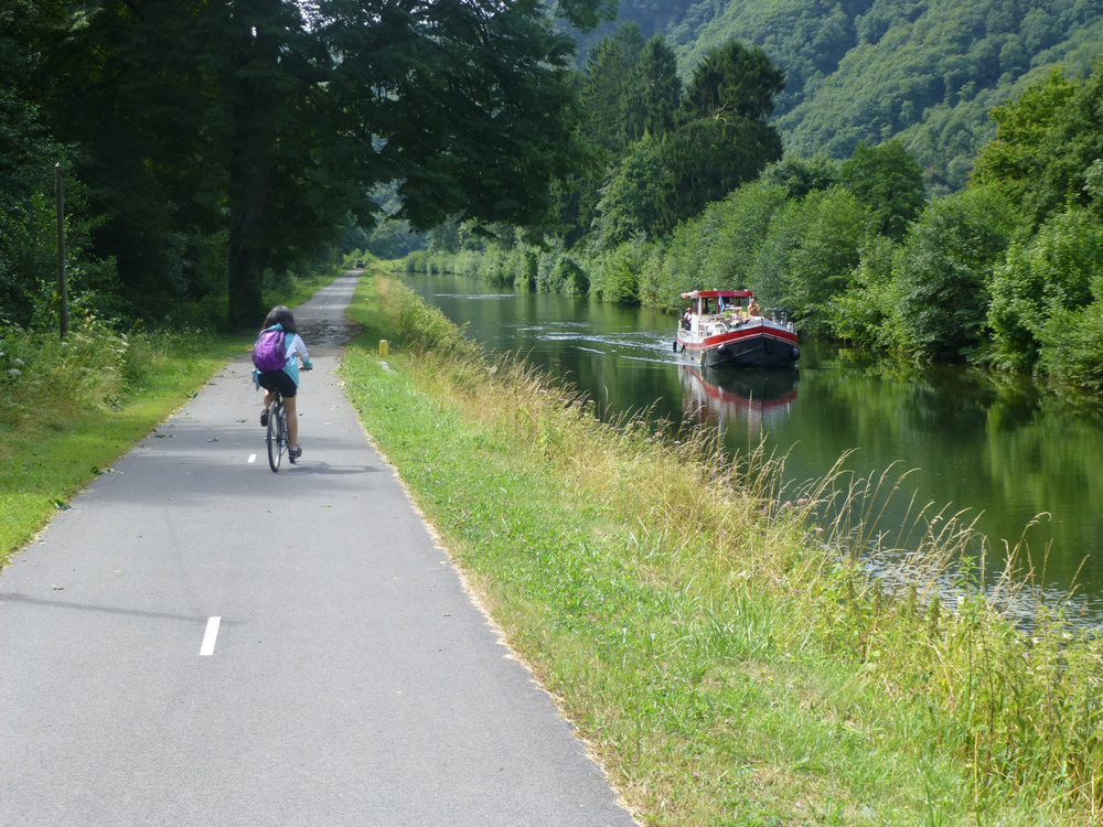 The biking trail, known as 'Voie Verte' (Green Track), along the river. (Photo by Criselda Yabes)