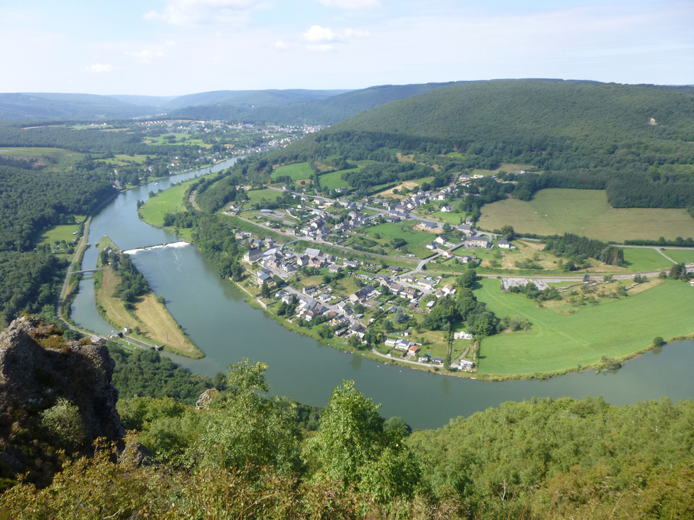 A view of the River Meuse coiling round the villages. (Photo by Criselda Yabes)