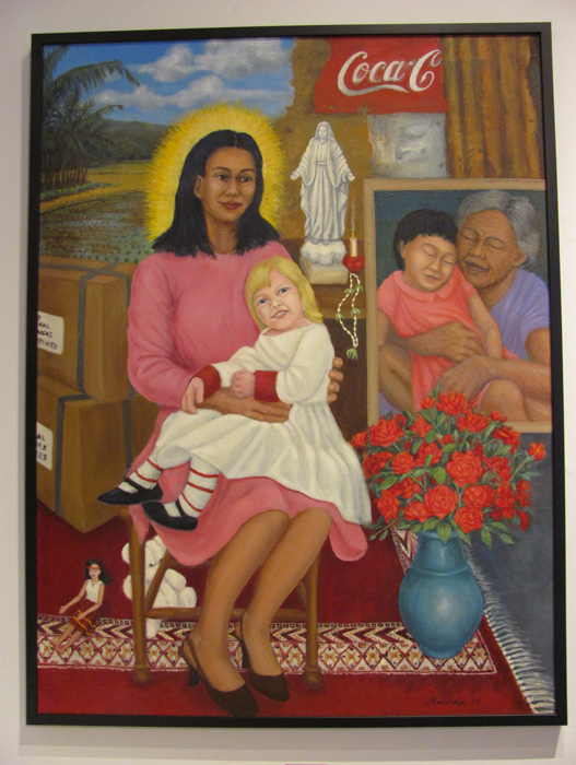 "Roses for Nanny and Nanay (Mother), 2009, oil on canvas, 36"" x 48"" (John Garrett)"