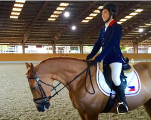 Xavier Virata of the Philippines at the Zone 9 FEI World Dressage Challenge 2015