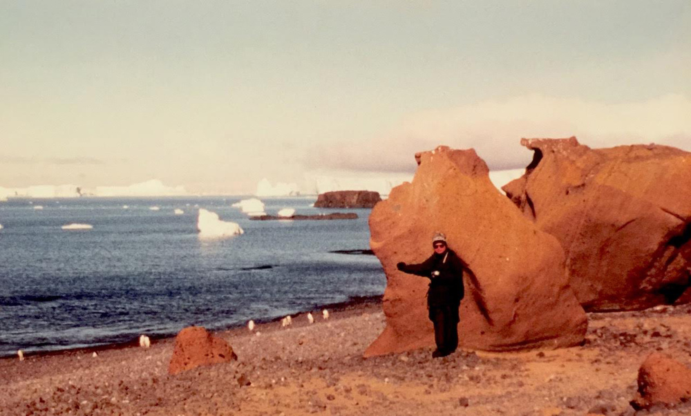 Antarctica New Years eve of 1999-2000. Because of the Y2K fear,Ed Delgado chose to bring his whole family to the farthest place on earth in case everything went belly up!(Photo courtesy of Jose Eduardo C.Delgado)