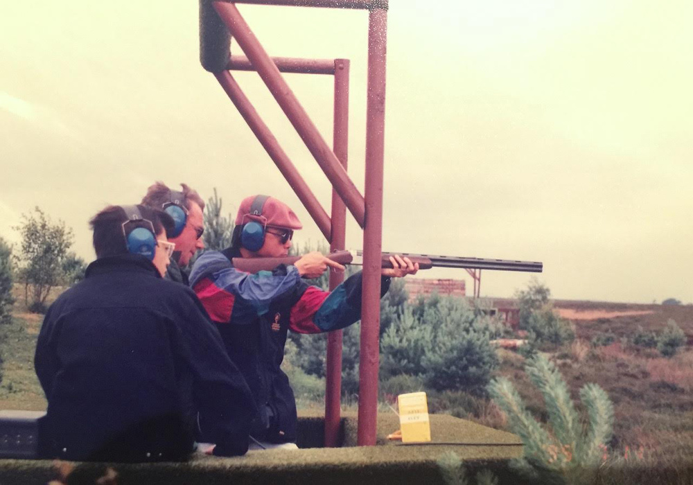 Ed Delgado was given trap-shooting lessons in Gleneagles, Scotland. He did pretty well, so he then started doing more sporting clay from thereon! (Photo courtesy of Jose Eduardo C.Delgado)
