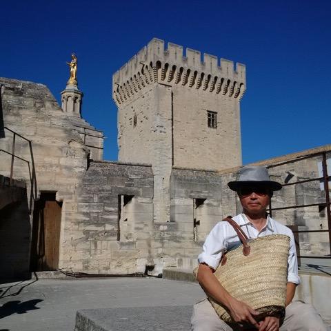 Citté de Baux in Provence, France, where bauxite was first use to make aluminium.Ed Delgado was at the top of the Saracen Tower. (Photo courtesy of Jose Eduardo C.Delgado)
