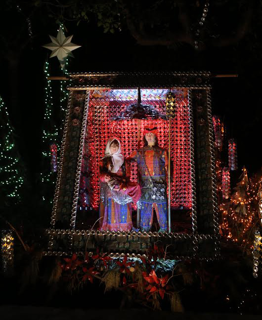 Rizzel Ann Lanoria's Belen of recycled soda cans lights up the long stretches of Pura, Tarlac. (Photo courtesy of The Tarlac Heritage Foundation - Belenismo sa Tarlac)