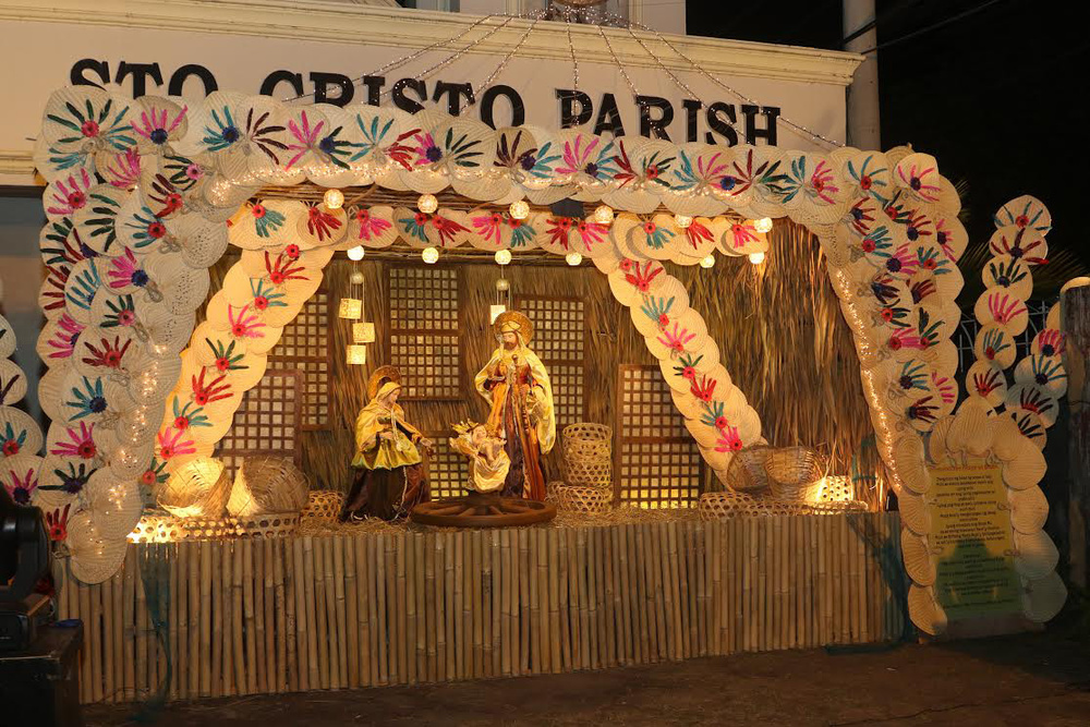 The Santo Cristo Parish Belen in Tarlac like all the rest are made of 50% indigenous materials. (Photo courtesy of The Tarlac Heritage Foundation - Belenismo sa Tarlac)