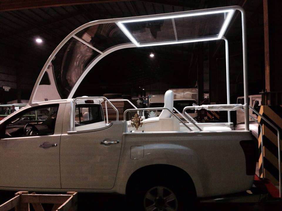 The Pope Mobile (Photo courtesy of Nitz Almazora)