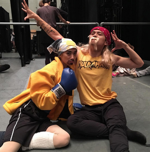 Stella as Manny Pacquiao and Jeffrey Cirio as Hulk Hogan (Source: @stellaabreradetsky)