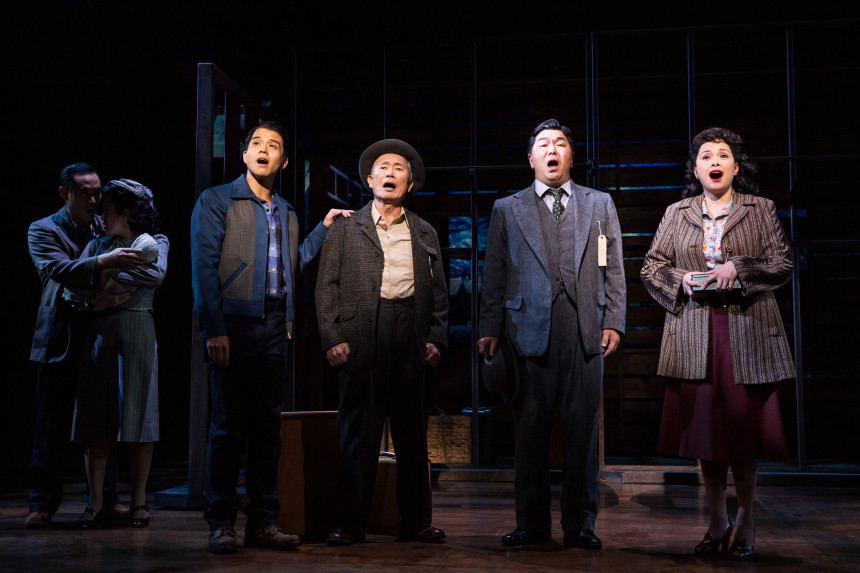 (L-R) Telly Leung, George Takei, Christopheren Nomura and Lea Salonga (Source: AllegianceMusical.com)