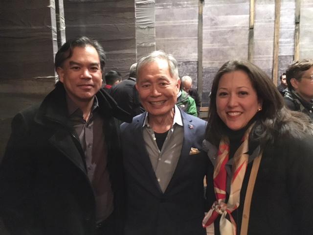Archie and Joyce Ibardolasa, with actor George Takei (Photo courtesy of the Ibardolasas)