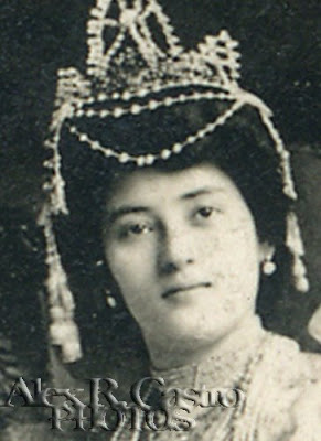 The first Miss Manila Carnival—Queen of the Orient of 1908, Pura Garcia Villanueva of Molo, Iloilo. (Photo courtesy of Alex R. Castro)