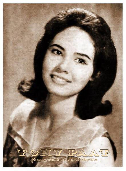 Lalaine Bennett, Miss Philippines 1963 to Miss Universe, 3rd runner-up (Source: Tony Paat Beauty Queen Images Collection)