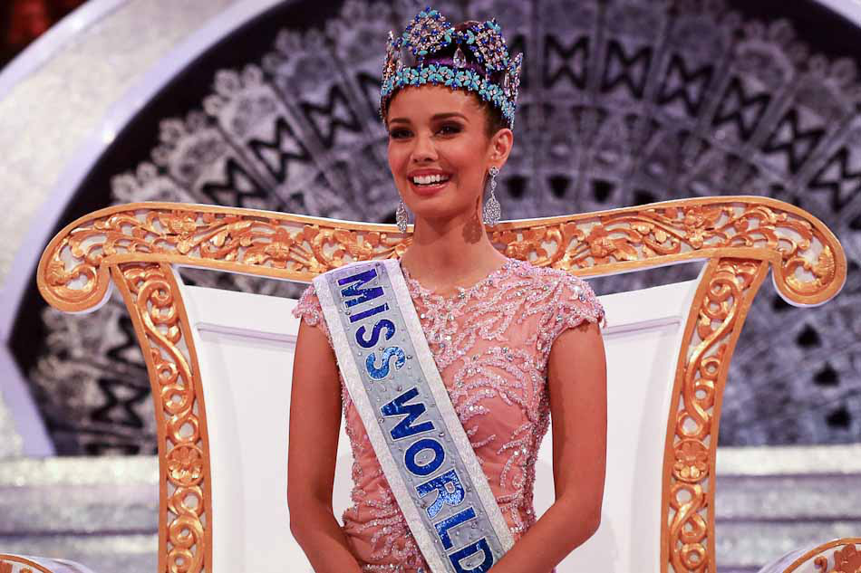 The first Miss World-Philippines, Megan Young, 2013. First Filipina to win the title outright, on her own, in a muslim country, yet.