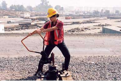Dr. Elaine Serina working in the field, investigating the safety of railroad equipment. (Photo courtesy of Dr. Elaine Serina)