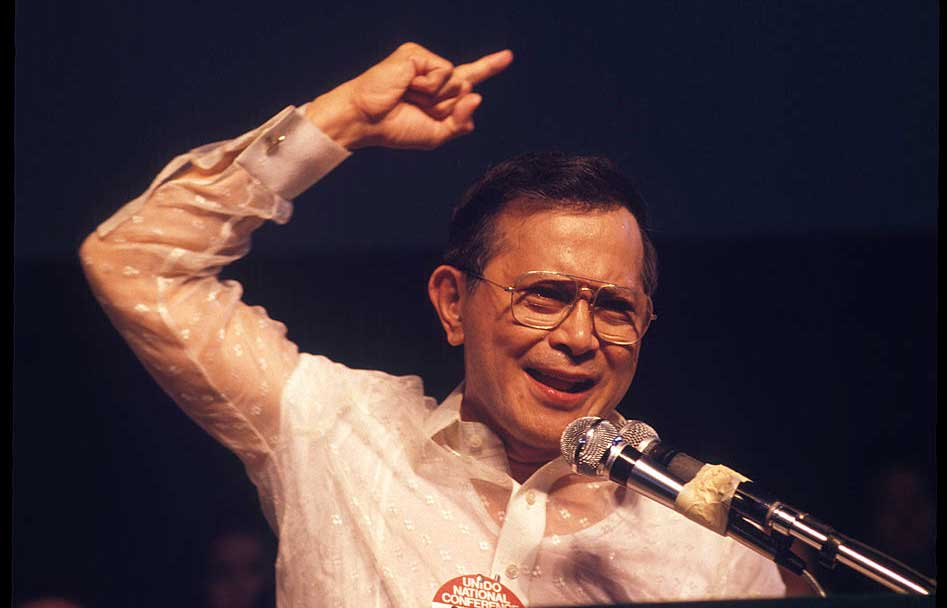Former Senator Salvador Laurel (Photo by Alex Bowie/Getty Images)