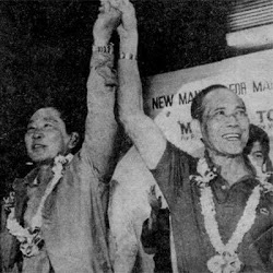 President Ferdinand Marcos chooses Arturo Tolentino as his running mate.
