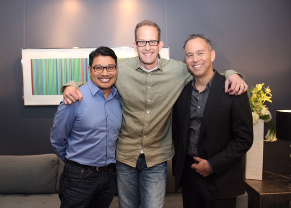 "The ""Inside Out"" team: (from left) co-director Ronnie del Carmen, director Pete Docter and producer Jonas Rivera (Photo by Ruben V. Nepales)"