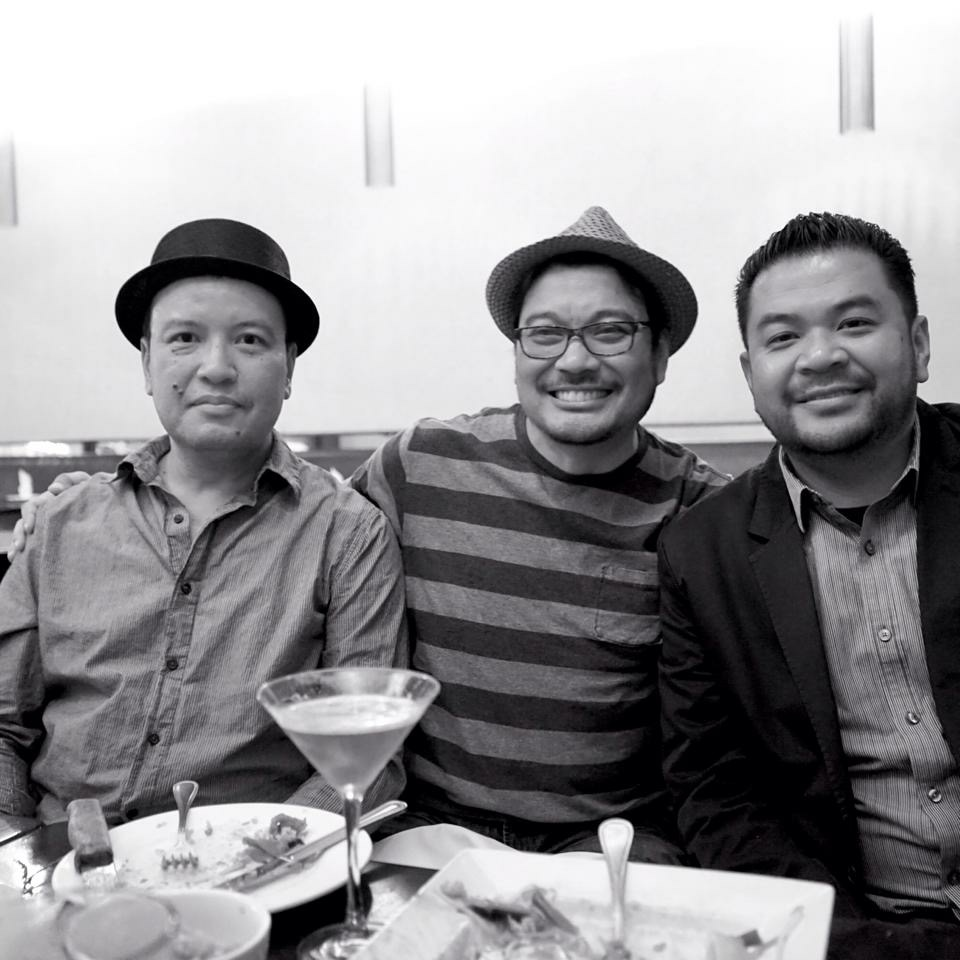 Del Carmen brothers -- all UST alum who are top animation artists and storytellers in the U.S. (from left): Ricky, Ronnie and Louie (Photo courtesy of Ronnie del Carmen)