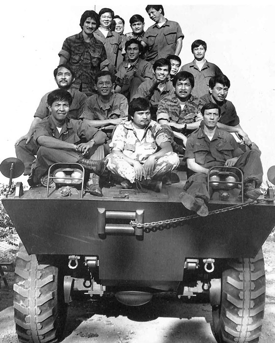 "The RAM group led by Col. Gregorio ""Gringo"" Honasan (Source:  the Presidential Museum and Library)"