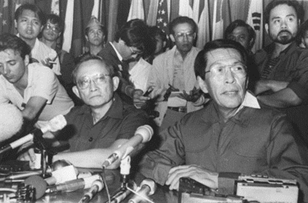 General Fidel V. Ramos and Defense Minister Juan Ponce Enrile (Source: Inquirer.net)