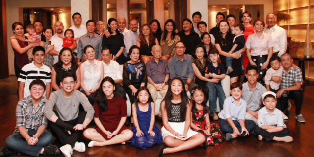 The Yuchengco Family (Photo courtesy of Mona Lisa Yuchengco)