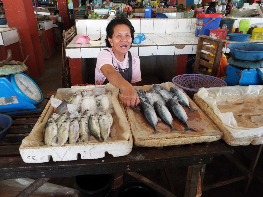 One of the fish vendors in Cuyo (Photo by Gia R. Mendoza)