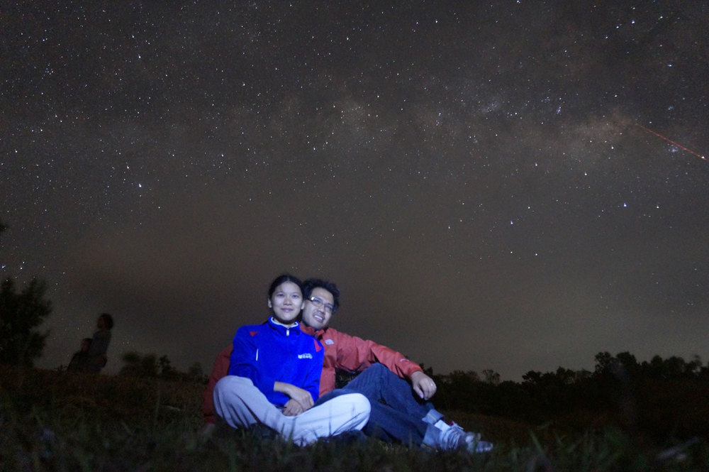 Reina with husband Gary and the Milky Way (Photo by Nico Mendoza)