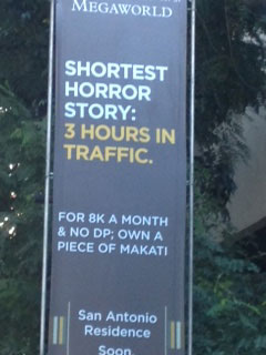 A condominium ad seen while in traffic (Photo by Criselda Yabes)