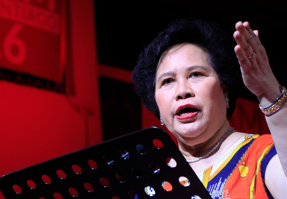 Senator Miriam Defensor Santiago, candidate for president, People's Reform Party (Source: miriam.com.ph)