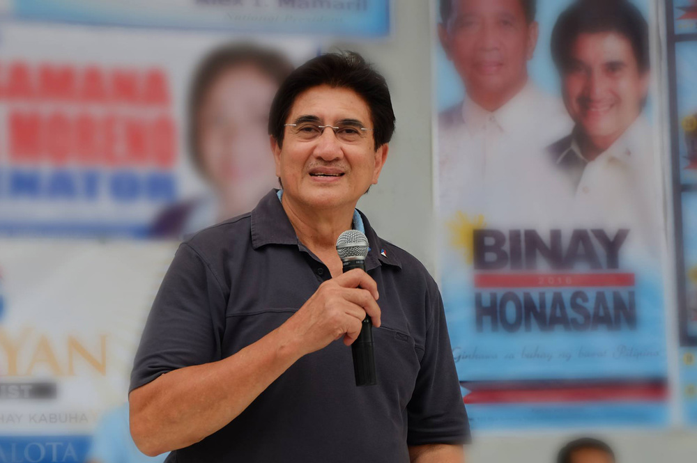 Senator Gringo Honasan, candidate for vice president, running mate of Vice President Jejomar Binay (Source: gringohonasan.ph)