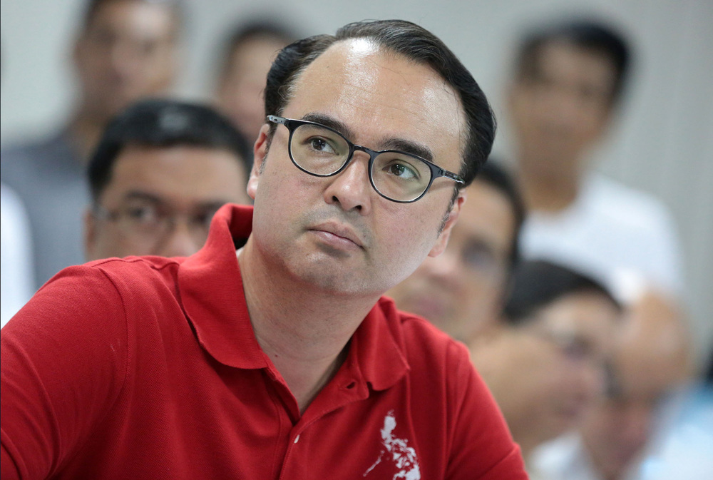 Senator Alan Peter Cayetano, candidate for vice president, running mate of Mayor Rodrigo Duterte (Source: Inquirer.net/Photo by Grig Montegrande)