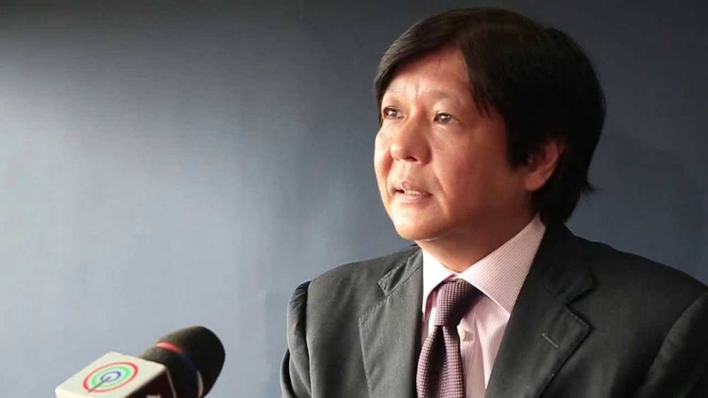 Senator Bongbong Marcos, candidate for vice president, running mate of Senator Miriam Defensor Santiago (Source: ABS-CBN News)